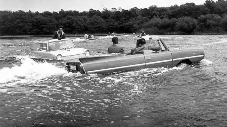 Las plenas del primera auto anfibio